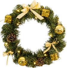 """Прикраса новорічна """"Вінок золоті прикраси"""" STAR TRADING 601-15"""