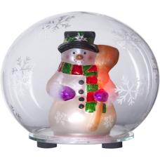 """Украшение новогоднее """"Шарик со Снеговиком"""" STAR TRADING 991-41"""