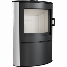 Кафельная печь-камин Kratki KOZA AB S/2 кафель белая (10,0 кВт)