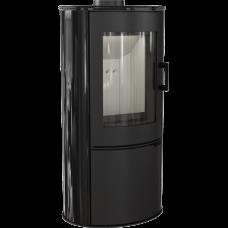 Кафельная печь-камин Kratki KOZA AB S/DR кафель черная (8,0 кВт)