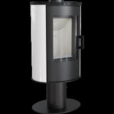 Кафельная печь-камин Kratki KOZA AB S/N/O/DR кафель белая (8,0 кВт)