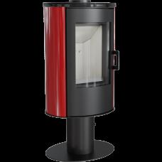 Кафельная печь-камин Kratki KOZA AB S/N/O/DR кафель красная (8,0 кВт)