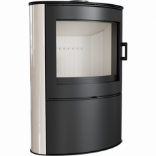 Кафельная печь-камин Kratki KOZA AB S/2 кафель кремовая (10,0 кВт)