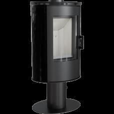 Кафельная печь-камин Kratki KOZA AB S/N/DR кафель черная (8,0 кВт)
