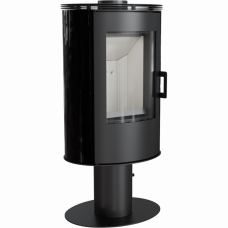 Кафельная печь-камин Kratki KOZA AB S/N/O/DR кафель черная (8,0 кВт)