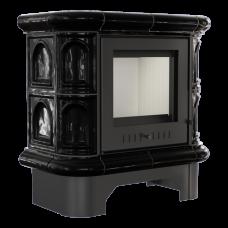 Кафельная печь-камин Kratki WK 440 кафель черная (6,5 кВт)