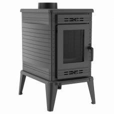 Чугунная печь-камин Kratki KOZA K10 Ø 130 TURBOFAN (10,0 кВт)