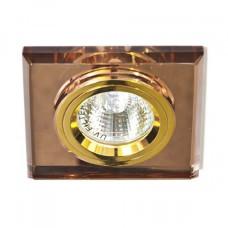 Встраиваемый светильник Feron 8170-2 коричневый золото