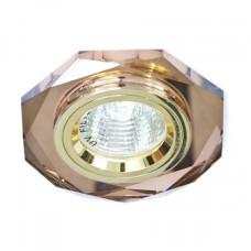Встраиваемый светильник Feron 8020-2 коричневый золото